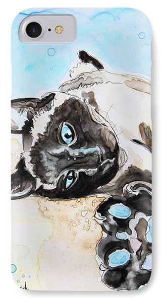 Sophie The Siamese IPhone Case by Shaina Stinard