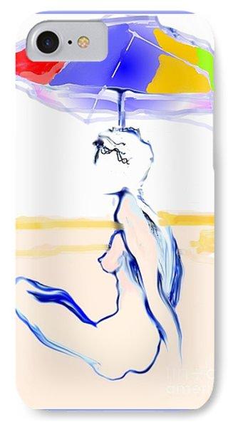 Sophi's Umbrella #2 - Female Nude IPhone Case by Carolyn Weltman