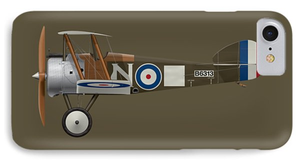 Sopwith Camel - B6313 March 1918 - Side Profile View IPhone Case