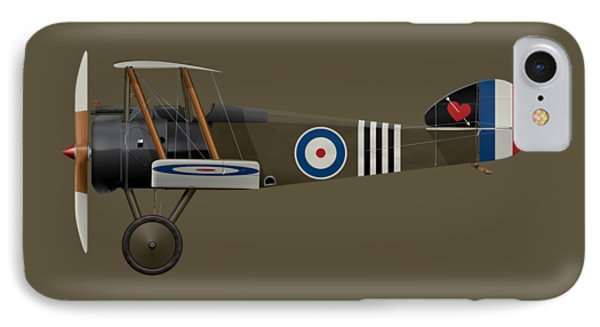 Sopwith Camel - B6313 June 1918 - Side Profile View IPhone Case
