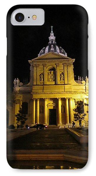 IPhone Case featuring the photograph Sorbonne Night by Christopher Kirby