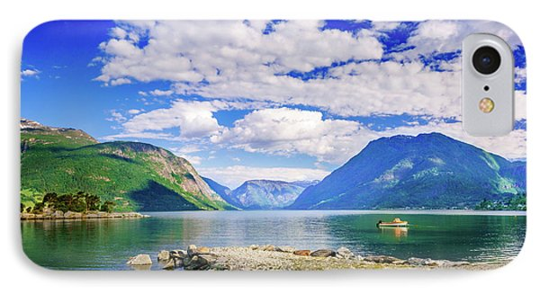 IPhone Case featuring the photograph Soreimsfjorden by Dmytro Korol