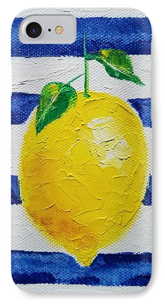 IPhone Case featuring the painting Sorrento Lemon by Judith Rhue