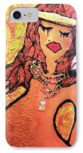IPhone Case featuring the painting Sorrow And Suffering by Laura  Grisham