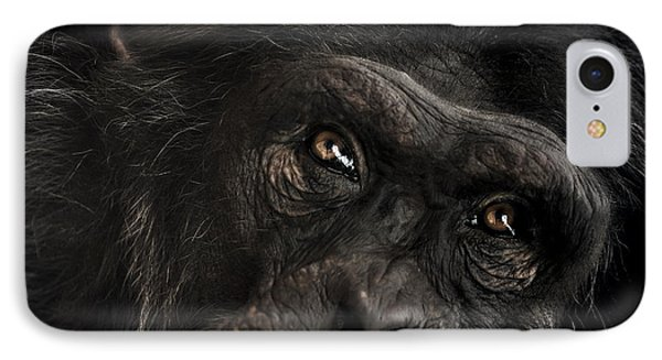 Chimpanzee iPhone 7 Case - Sorrow by Paul Neville