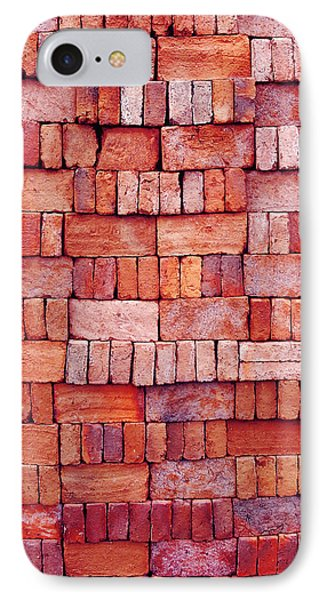 Sorted Red Bricks  IPhone Case by Emir Dayan Mende