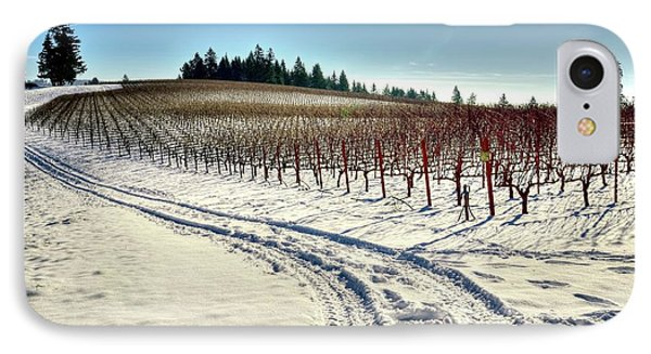 Soter Vineyard Winter IPhone Case by Jerry Sodorff