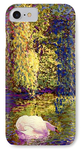 Impressionism iPhone 7 Case - Swans, Soul Mates by Jane Small