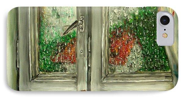 Sound Of Rain  Oil Painting Phone Case by Natalja Picugina