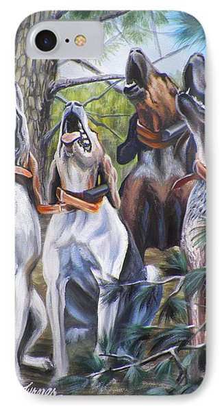 Sound Of The Hound IPhone Case by Monica Turner