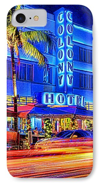 South Beach Art Deco Phone Case by Dennis Cox WorldViews