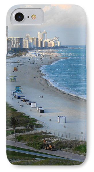 South Beach At Its Best IPhone Case by Margaret Bobb