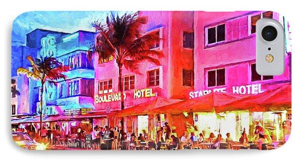 South Beach Neon Phone Case by Dennis Cox WorldViews