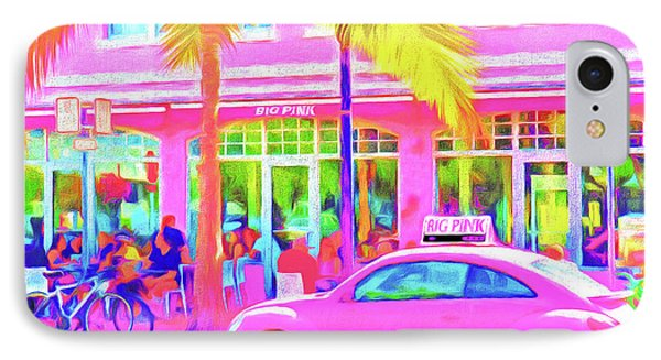 South Beach Pink Phone Case by Dennis Cox WorldViews