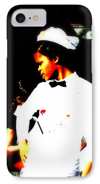 South Beach Waitress Attitude Phone Case by Funkpix Photo Hunter