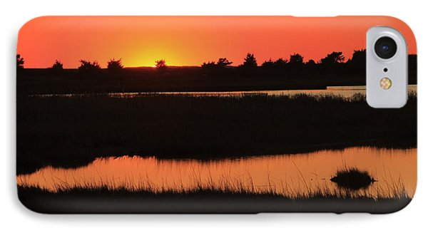 South Cape Beach Marshes At Sunset IPhone Case by John Burk