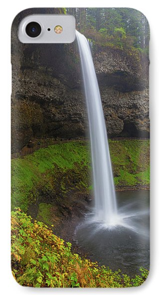 South Falls At Silver Falls State Park Phone Case by David Gn