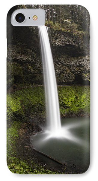 South Falls In Silver Falls State Park IPhone Case by John McGraw