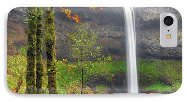 South Falls On A Drizzly Day Phone Case by David Gn