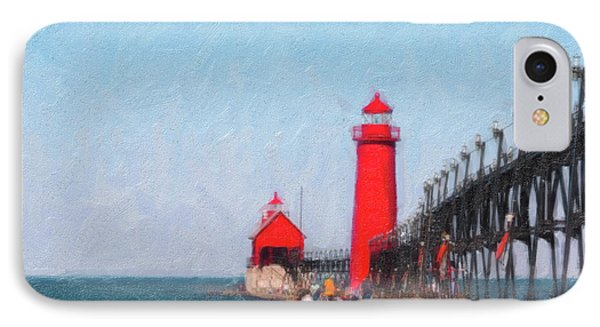South Pier Of Grand Haven IPhone Case by Tom Mc Nemar