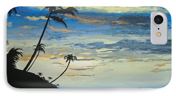 IPhone Case featuring the painting South Sea Sunset by Norm Starks