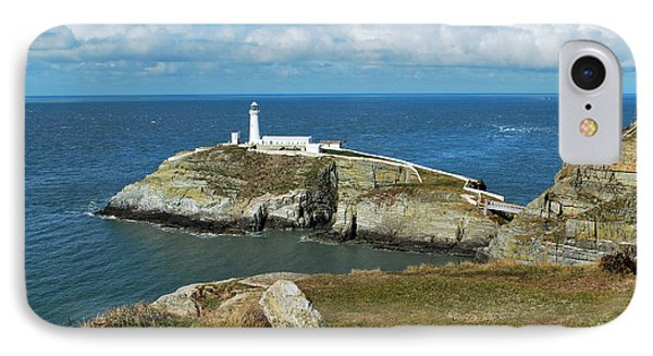 South Stack Light House IPhone Case by Lynn Hughes