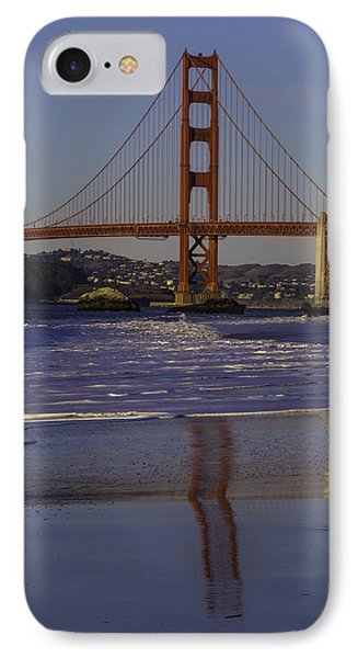 South Tower Golden Gate Bridge IPhone Case by Garry Gay