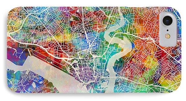 Southampton England City Map IPhone Case
