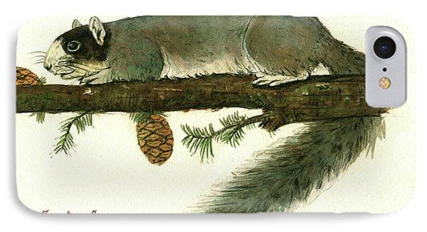 Squirrel iPhone 7 Case - Southern Fox Squirrel  by Juan Bosco