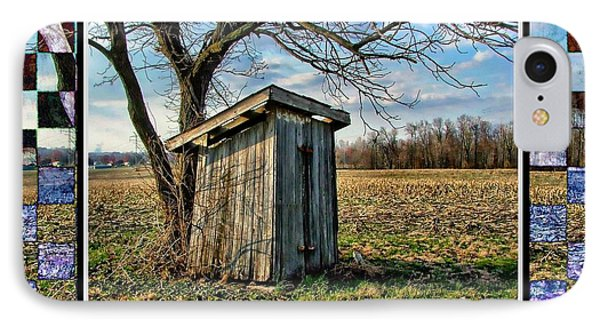 Southern Indiana Outhouse IPhone Case by Julie Dant