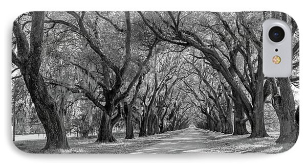 Southern Lane 3 Bw IPhone Case by Steve Harrington