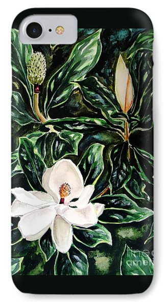 Southern Magnolia Bud And Bloom IPhone Case by Patricia L Davidson