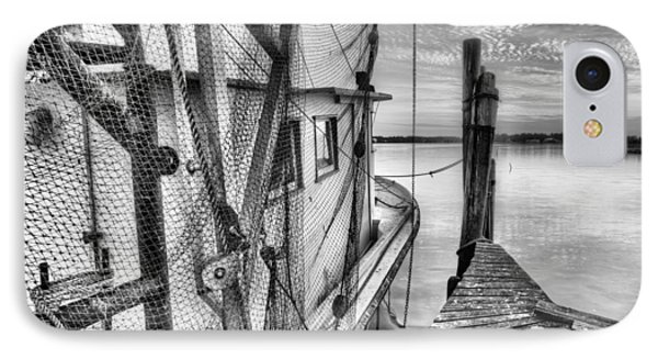 Southern Shrimper Black And White IPhone Case