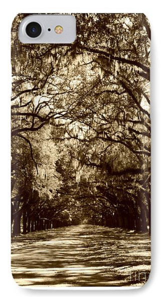 Southern Welcome In Sepia Phone Case by Carol Groenen
