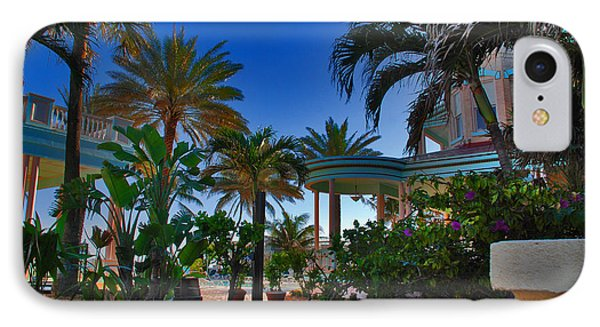 Southernmost Lush Garden In Key West Phone Case by Susanne Van Hulst