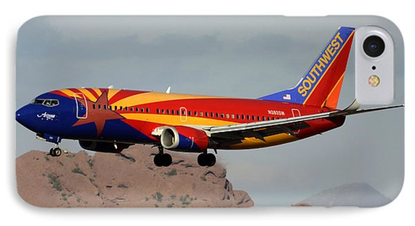 Southwest Boeing 737-3h4 N383sw Arizona Phoenix Sky Harbor December 20 2015  Phone Case by Brian Lockett