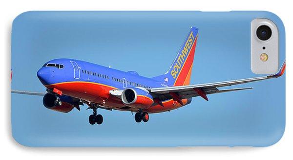 Southwest Boeing 737-7h4 N238wn Phoenix Sky Harbor January 17 2016 Phone Case by Brian Lockett