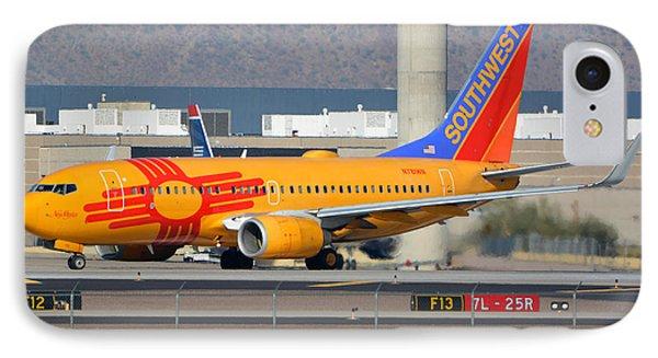 Southwest Boeing 737-7h4 N781wn New Mexico Phoenix Sky Harbor January 17 2016 Phone Case by Brian Lockett
