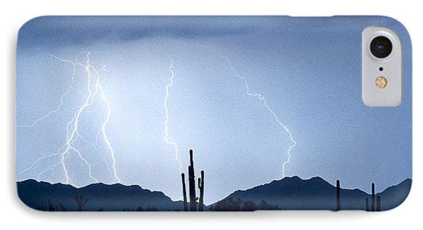 Southwest Desert Lightning Blues Phone Case by James BO  Insogna