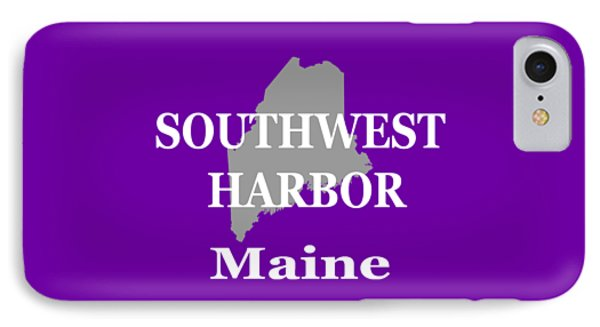 IPhone Case featuring the photograph Southwest Harbor Maine State City And Town Pride  by Keith Webber Jr