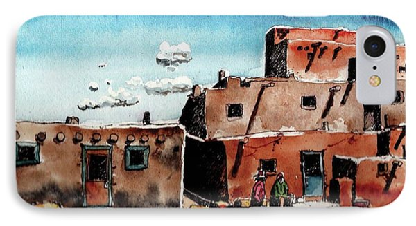 IPhone Case featuring the painting Southwest Homes by Terry Banderas