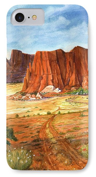 IPhone Case featuring the painting Southwest Red Rock Ranch by Marilyn Smith