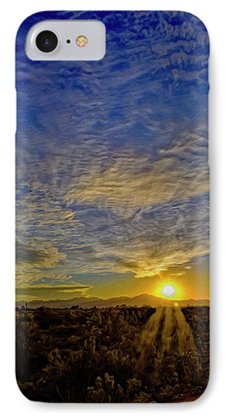 IPhone Case featuring the digital art Southwest Sunset Op40 by Mark Myhaver