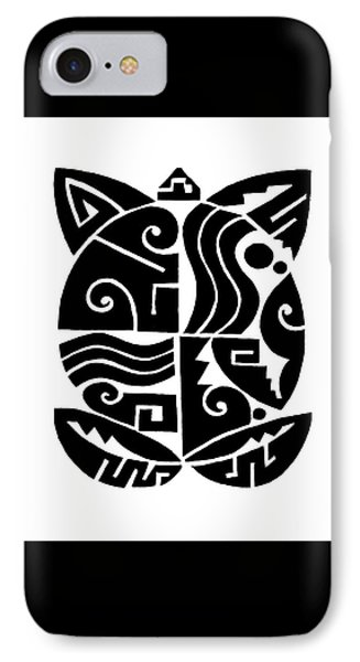 IPhone Case featuring the digital art Southwest Tribal Tortuga by Vagabond Folk Art - Virginia Vivier