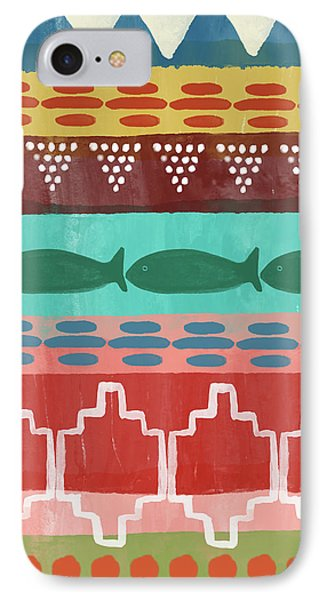 Southwest With Fish- Art By Linda Woods IPhone Case