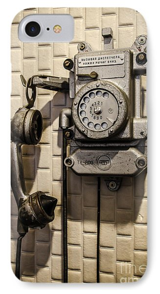 Soviet Telephone In The Former Kgb Headquarters IPhone Case by RicardMN Photography