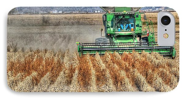 Soybean Harvest Fremont County Iowa IPhone Case