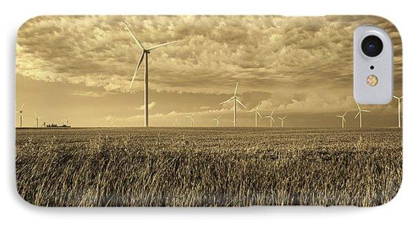 Soybeans And Turbines IPhone Case by Mountain Dreams
