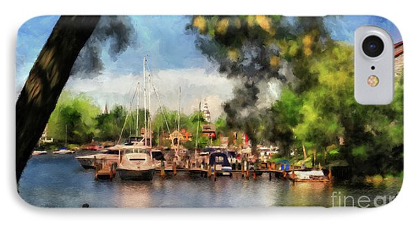 Spa Creek IPhone Case by Lois Bryan