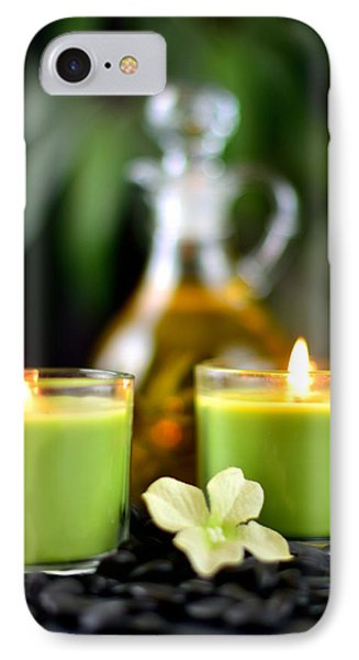 Spa Rocks And Candles IPhone Case by Serena King